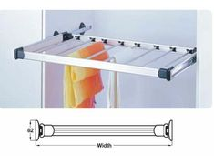 Pull Out Trousers Racks - Aluminium