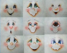 Resultado de imagem para Cute Snowman Faces to Paint Snowman Crafts, Christmas Projects, Holiday Crafts, Christmas Crafts, Christmas Decorations, Christmas Ornaments, Snowman Ornaments, Lightbulb Ornaments, Snowman Decorations