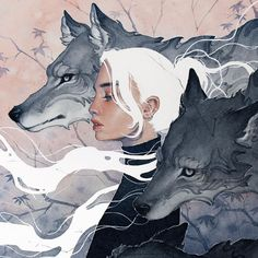Been such a loooooong time since I'd done a wolf and actually had heaps of fun working on this piece! They're among one of my favourite… Art Inspo, Inspiration Art, Character Inspiration, Character Art, Art Et Illustration, Illustrations, Art Sketches, Art Drawings, Bel Art