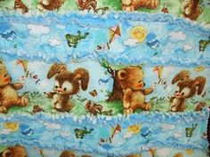 Baby Rag Quilt - Close up - March 2013