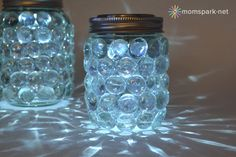 It's easy to make these mason jar luminaries, see the tutorial here.