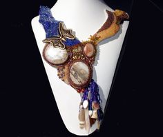 Destination Gualala Necklace for March 2012 EBW by BeadsNJane, $450.00