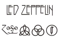 Vector logo download free: Led Zeppelin Logo Vector