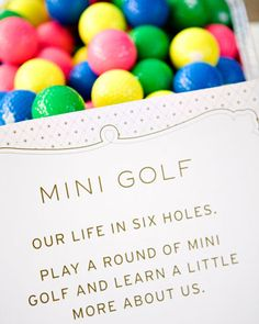 mini golf at your wedding? so cool.
