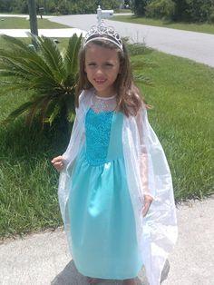 CAPE only for Elsa Frozen Movie Girls Costume by HandmadebyCatira, $19.99