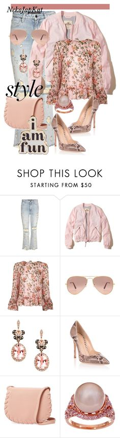 """""""pink demi,3"""" by neko-m-tucker-smith ❤ liked on Polyvore featuring Alexander Wang, Hollister Co., Topshop, Ray-Ban, Effy Jewelry, Gianvito Rossi, Cynthia Rowley, Honora and ban.do"""