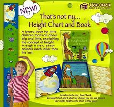 Growth Chart from Usborne Books and More shop at www.myubam.com/c4269