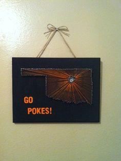 Oklahoma State Univeristy  Go Pokes by LollyJay on Etsy, $55.00