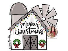 Christmas Templates, Christmas Themes, Kids Christmas, Christmas Crafts, Christmas Clipart, Country Christmas, Door Hanger Template, Door Crafts, Burlap Door Hangers