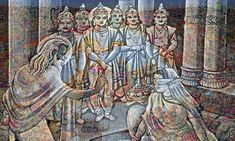 Dhritarashtra's wife Gandhari wanted 100 sons, who looked like her husband. Therefore, Vyas in Hastinapur blessed the Gandhari.She was pregnant because of blessing,