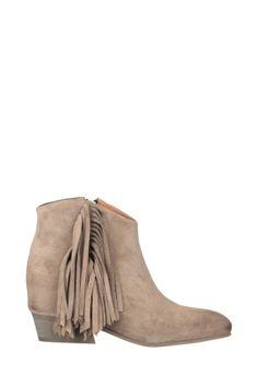 Boots cuir marron détails frangées Fabia IKKS. ClicknDress · Bottes et Bottines  Femmes 5a2de0bd66b