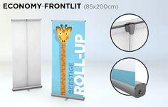 Roll-up 85x200 cm - verkrijgbaar in verschillende kwaliteiten bij drukkerij ZwartOpWit
