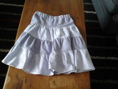 Size 5 - tiered skirt in purple and mauve