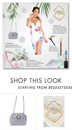 """""""Why a girl wants."""" by amiclubwear ❤ liked on Polyvore featuring MAC Cosmetics, Dyson, floral, Flowers, fabulous and amifashion"""