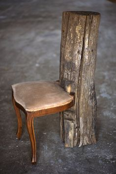 Take a seat!  ha, had, don't lean back though, you might pick up a splinter!