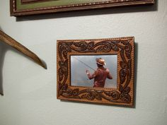 How to: Make a Picture Frame from a Vintage Leather Belt