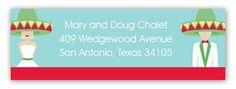 Fiesta Wedding Blond Address Label