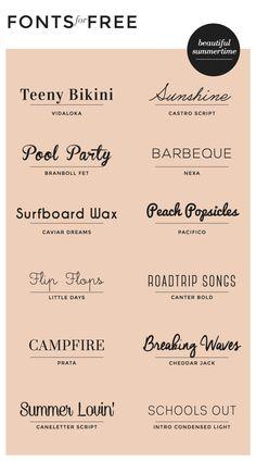 Free Fonts: Summertime | Wordpress
