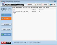 CD DVD recovery software, perfectly recover lost CD DVD data.