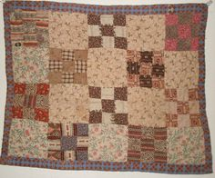 "RARE  CIVIL WAR ERA HAND MADE FOLK ART DOLL QUILT W/AWESOME OLD FABRICS NR!!  COMPLETELY HAND SEWN.   ""The quilt is in very nice antique condition with no rips or holes, just some very light staining.   Ebay  sold  142.00"