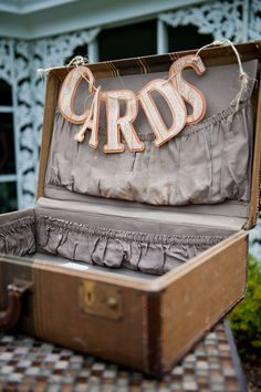 cards in a suitcase! great idea for all those cards & gift certs you get at the Wedding reception
