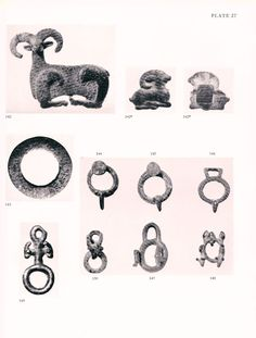 Luristan buckles or ring fitting are the only things published Moorey Catalogue of the ancient Perisan bronze in the Ashmolean museum, from this following the similar style of various class of objects it is possible to link them to Luristan area also if influenced from Amlash, Caucasian and Caspian area cultures of the bronze age.