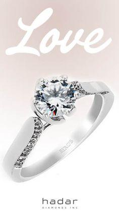Diamond rings by HadarDiamonds.com . Custom made with love in Southern California. #diamondrings