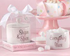 """""""Sugar, Spice and Everything Nice"""" Ceramic Sugar Bowl"""