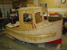 Todd's Mini-Tug Boat Building Journal: Rub Rails and Gunwhales Epoxied On
