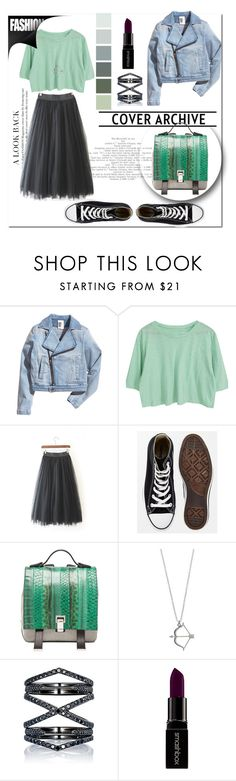 """""""Black&Green"""" by violin-player-12 ❤ liked on Polyvore featuring Converse, Proenza Schouler, Eva Fehren and Smashbox"""