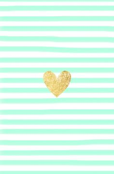 mint green stripes and gold heart cute phone wallpaper pinterest handy h llen. Black Bedroom Furniture Sets. Home Design Ideas