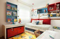 Quarto de menino. Projeto Grafira Dias Boys Room Design, Kids Bedroom Designs, Boys Room Decor, Kids Decor, Boy Room, Bedroom Decor, Home Decor, Ikea Kids Bedroom, Baby Bedroom