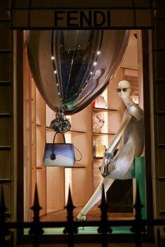 ALOOF Mannequins launched in Fendi windows, Avenue Montaigne Paris on the 8th April.  www.bonaveri.com www.chameleonvisual.com