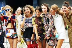 Our favorite European fashion icons! Miroslava Duma dead center, always a risk-taker and makes it look flawless