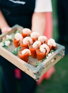 Shrimp cocktail: http://www.stylemepretty.com/2015/08/20/20-cocktail-hour-appetizers-your-guests-will-devour/: