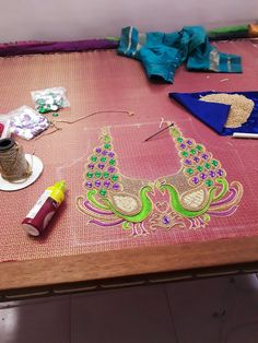 Peacock Blouse Designs, Peacock Embroidery Designs, Saree Tassels Designs, Wedding Saree Blouse Designs, Pattu Saree Blouse Designs, Blouse Designs Silk, Designer Blouse Patterns, Peacock Design, Designer Dresses