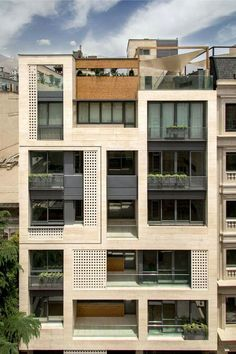 Khazar Residential Building / S-A-L Design Studio - architecture and design Architecture Design, Facade Design, Sustainable Architecture, Exterior Design, Pavilion Architecture, Sustainable Design, Contemporary Architecture, Landscape Architecture, Building Elevation