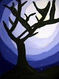 Artsonia Art Exhibit :: Fall Trees...silhouetted  Atmospheric perspective too!