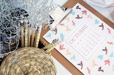 DESCARGABLE OCTUBRE - ALL YOUR SITES Napkins, Calendar, Tableware, October, Dinnerware, Towels, Dishes, Napkin