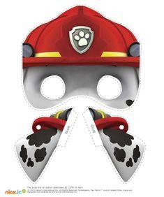 Free Printable Halloween #Masks - Nick Jr.'s Paw Patrol Character Masks