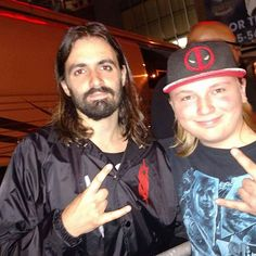 I had the best time last night I saw 3 bands and met most of slipknot . I can I had the best night of my life last night Jay Weinberg, Slipknot, I Saw, Of My Life, Captain Hat, Bands, Night, Band, Band Memes