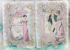 Jane Austen Pride and Prejudice Card Set of Four with Shimmering Aqua Envelopes and Seals on Etsy, $28.40 AUD