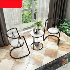 Welded Furniture, Iron Furniture, Steel Furniture, Unique Furniture, Home Decor Furniture, Furniture Design, Home Room Design, Home Interior Design, Hanging Chair With Stand