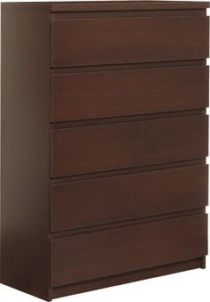 Pello 5 Drawer Wide Chest in Dark Mahogany is a simple and elegant range with…