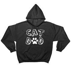 Cat Dad Hoodie Sweatshirt Mens Hoodie For Cat Lover Cat