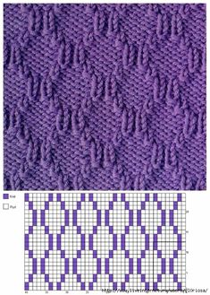 tricot 44 New Ideas Knitting Loom Patterns Baby Crochet Blankets Casino Dom Knitting Stiches, Loom Knitting Patterns, Knitting Charts, Lace Knitting, Crochet Stitches, Stitch Patterns, Knitting Tutorials, Knitting Machine, Vintage Knitting