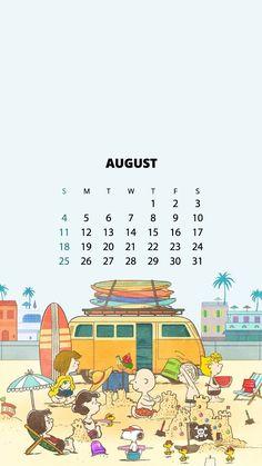 스누피 달력 배경화면 2019년 8월 아이폰 스누피배경화면 : 네이버 블로그