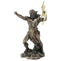 Griechischer Göttervater Zeus wirft mit Blitze 23cm Lion Sculpture, Greek, Statue, Art, Lightning, Father, Figurine, Art Background, Kunst