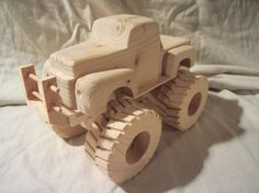 Wooden '48 Ford Monster Truck wood big child toy by nowcreations
