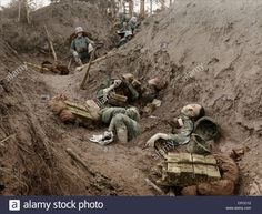 Italian, soldiers, army, military, killed, dead, trench, Piave, raid, Austrian, troops, World War I, War, World War, Europe, 191 Stock Photo
